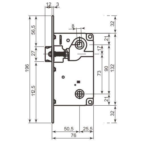51d01655 Дверной замок AGB Centro WC (для санузла) 50/90 - купить в Украине ...